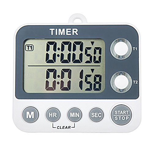 Aimilar Digital Kitchen Countdown Timer Magnetic Large Screen Clock 2 Channel Groups 99 hours Laboratory