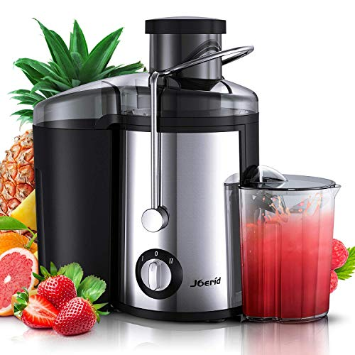 Juicer Machines 2020 Upgrade Joerid Centrifugal Juicer Juice Extractor with Spout Adjustable Lighter Powerful Easy to Clean BPA-Free Dishwasher Safe Included Brush Black - 600W