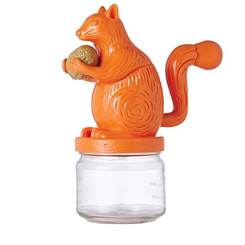 Squirrel Nut Grinder - Stainless Steel Blade And Glass Jar - 85 High