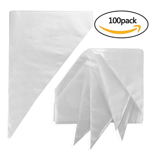 Pastry BagsYookat 100Pcs 12 Inch Disposable Icing Decorating Bags Baking Supplies for Cupcakes Cookies Candy Pastry Cake Piping Bags Large Size Bakeware Tools Fit for all Sized Tips Kit and Couplers